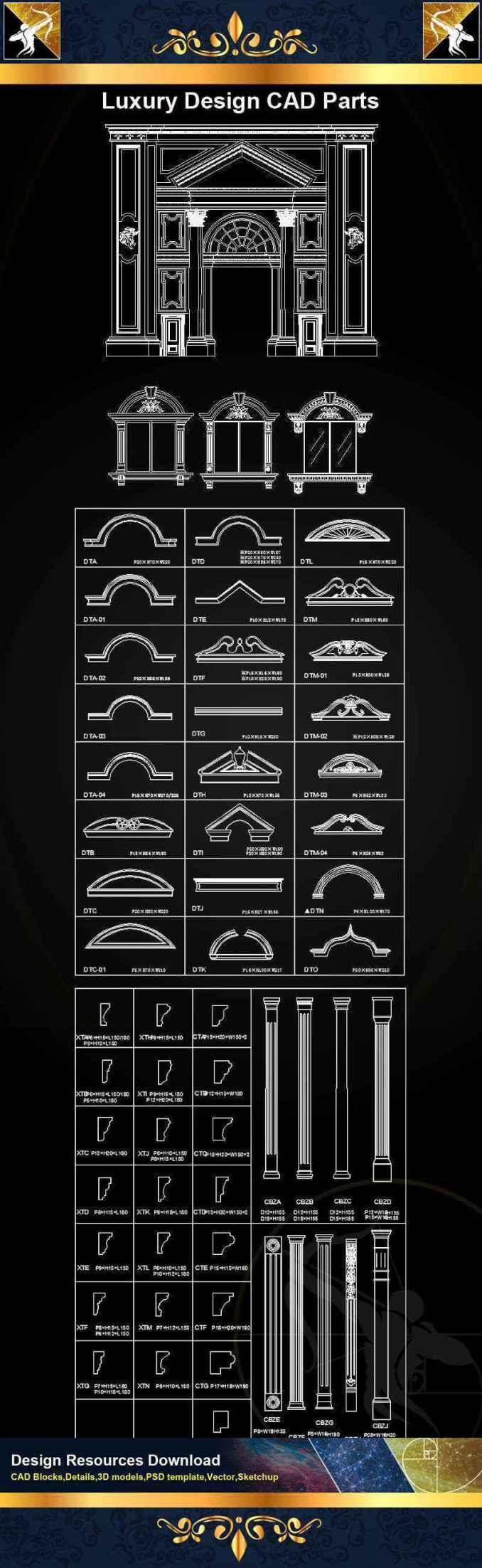 ★【Architecture Decoration Design Element CAD Blocks V 1】@Autocad Decoration  Blocks,Drawings,CAD Details,Elevation