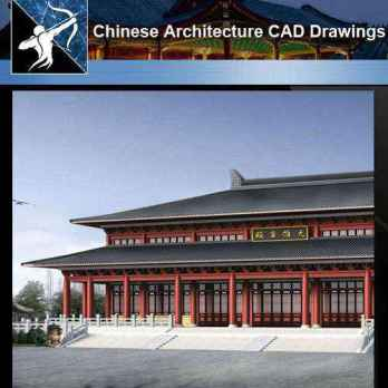 ★【Chinese Architecture CAD Drawings】@Chinese Temple Drawings,CAD Details,Elevation