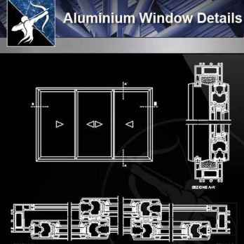 【Architecture CAD Details Collections】Aluminium Window CAD Detail