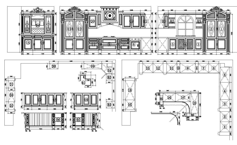 ☆【Various Kitchen Cabinet Autocad Blocks & elevation V.9】All ...
