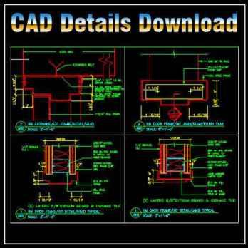 Door Jamb Details,Door Jamb Design ,CAD drawings downloadable in dwg files