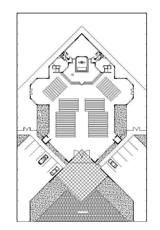 Free Church Plan - Free CAD Download World-Download CAD Drawings