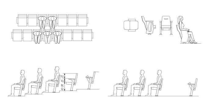 Free Cinema blocks - Free CAD Download World-Download CAD Drawings