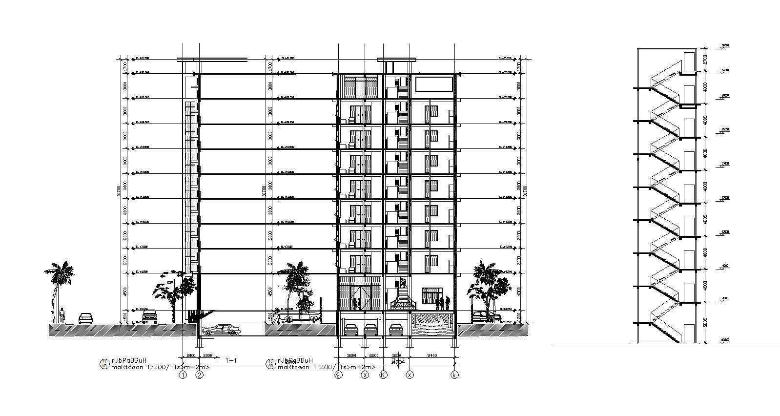 Residential Building CAD Design Collection V.1】Layout