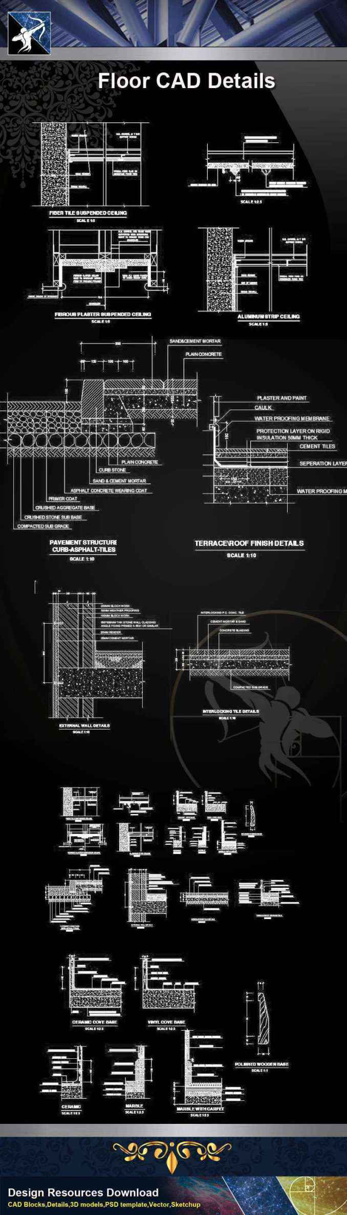 Architecture Cad Details Collections Flooring Cad Details V 1