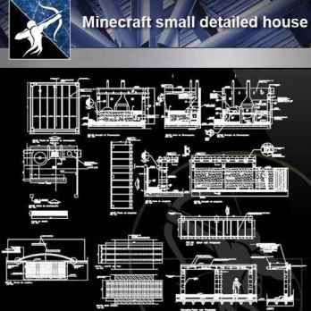 25 Minecraft small detailed house(Good)