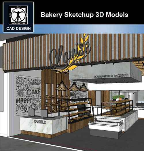 Sketchup Architecture 3d Projects Bakery Sketchup 3d Models Free Cad Download World Download Cad Drawings