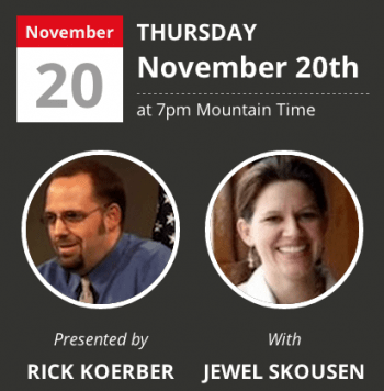 Rick Koerber and Jewel Skousen - American Liberty Society webinar