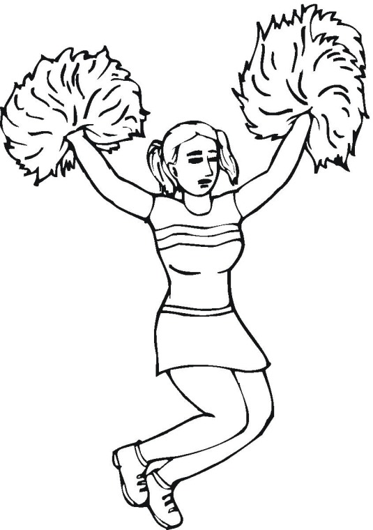 free cheerleading coloring pages