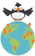 Puffin and the world