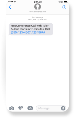 freeconference-sms-notification