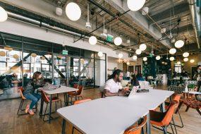 Wework coworking space in Los Angeles, California