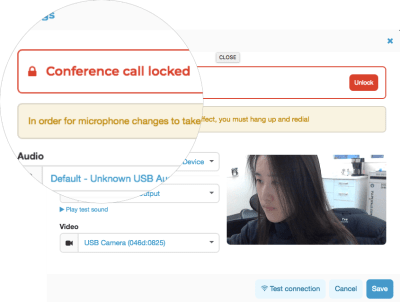 Secure Online Meeting Feature