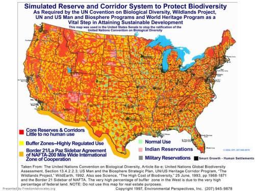 The original Agenda 21 Rewilding Plan map.