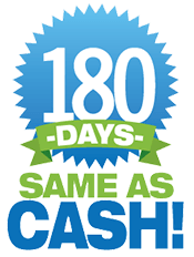 180 Days Same as Cash Logo