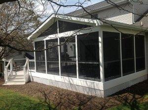 Screened Porch Freedom Fence
