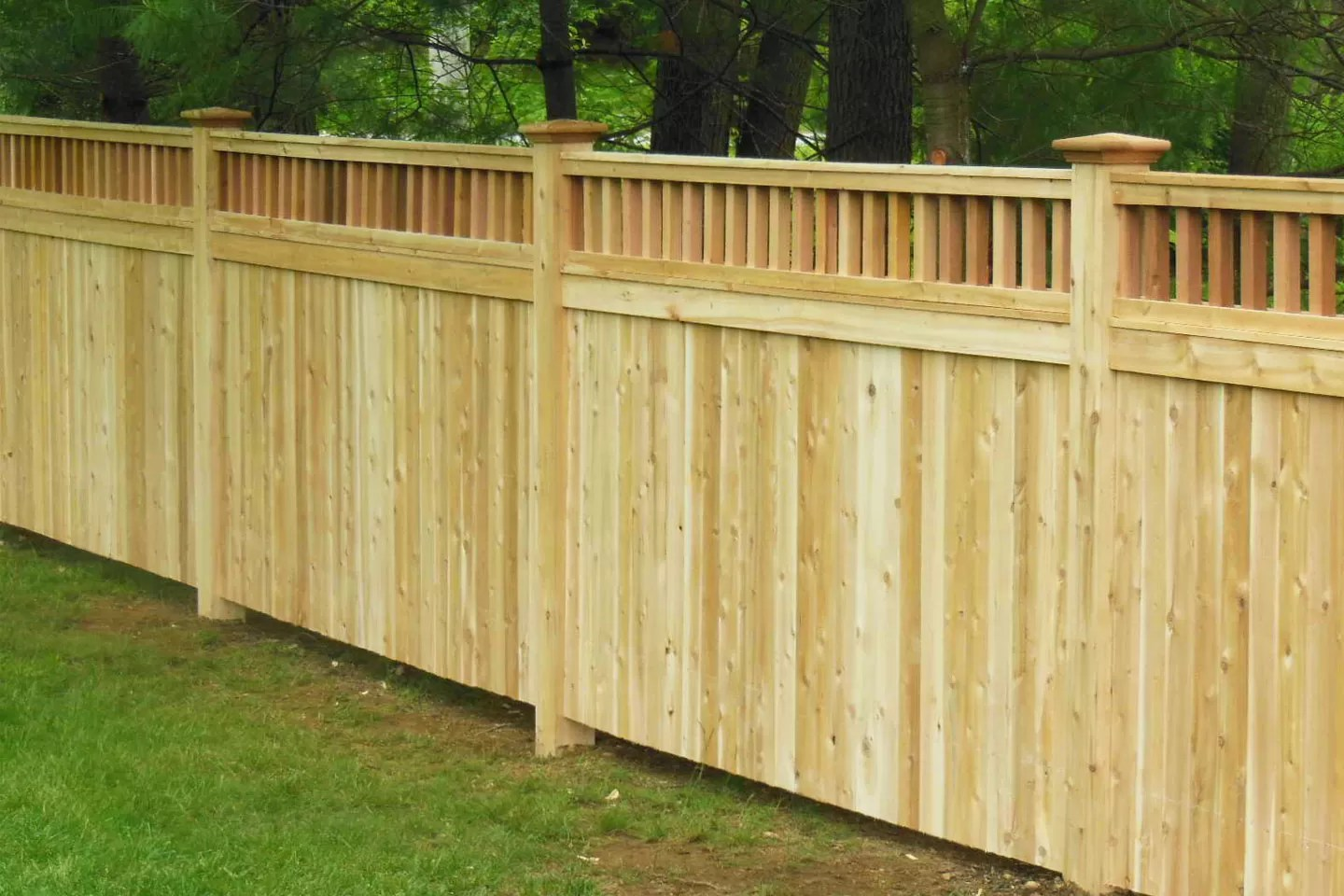 Privacy Fence Designs for Style & Seclusion   Freedonm ... on Decorations For Privacy Fence id=25209