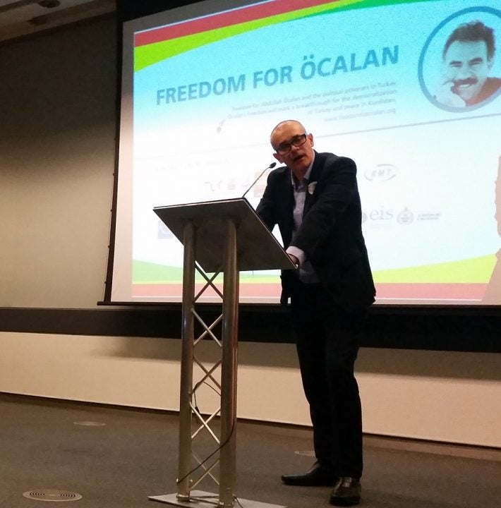 Simon Dubbins UK Campaign freedom for ocalan
