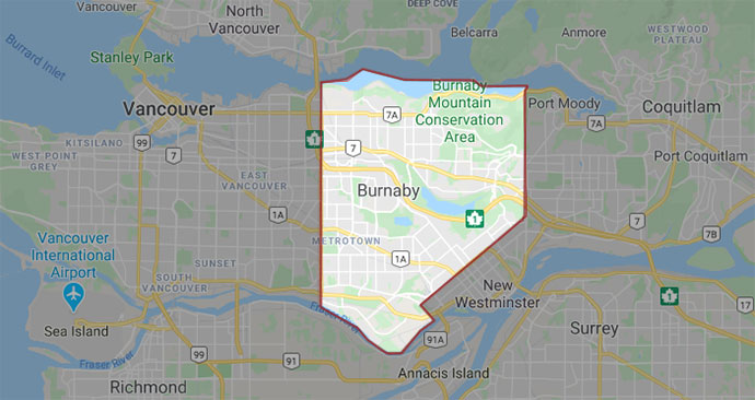 Burnaby has about 250,000 residents and the population is growing fast