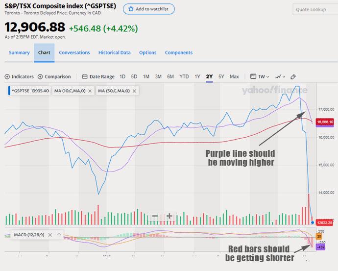 TSX drops 32% in just a few weeks