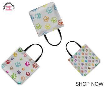 Paw Prints Tote Bags