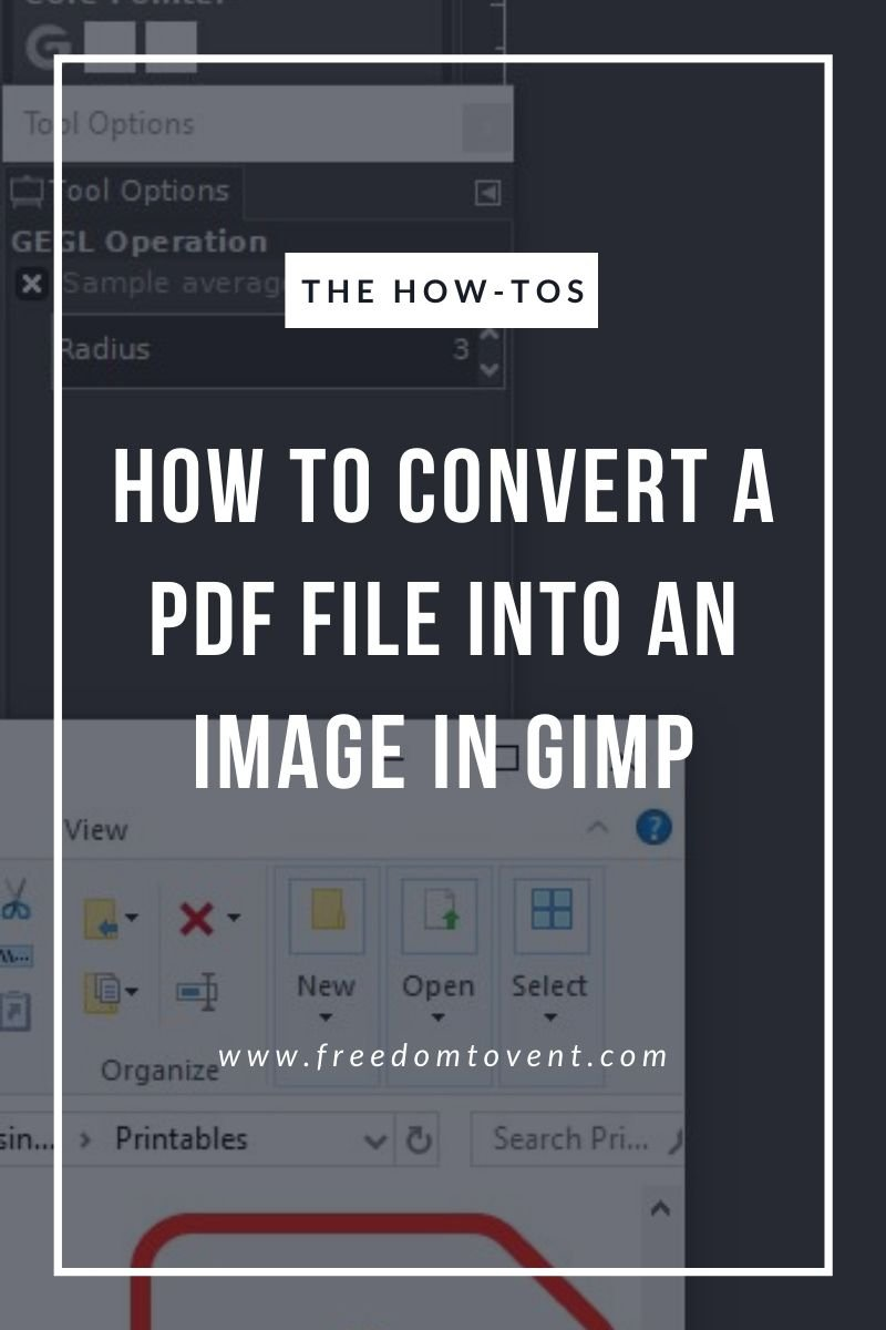 Read more about the article How to Convert a PDF File into an Image in GIMP