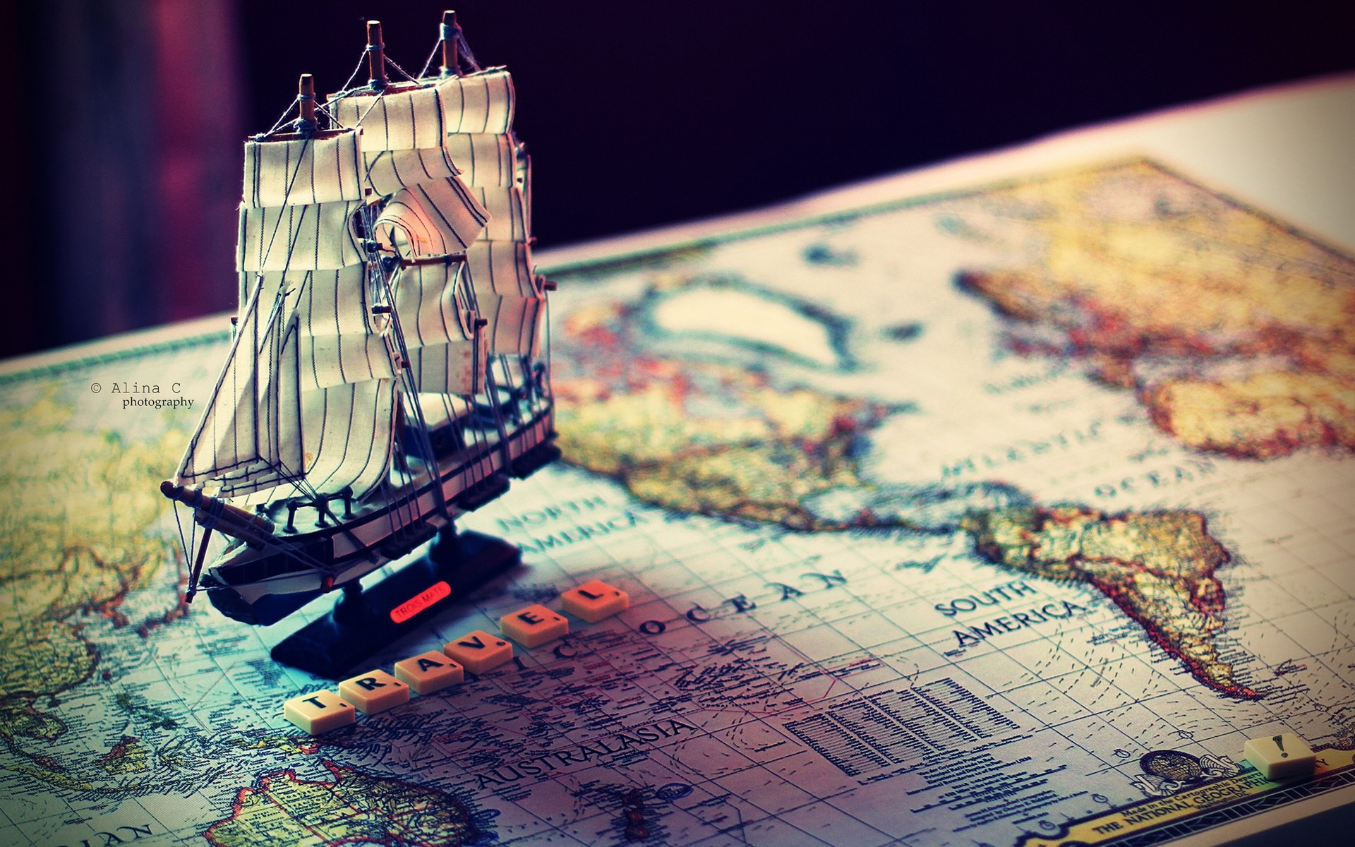 Map With Ship World Travel Wallpaper Hd Desktop Mobile Free Download