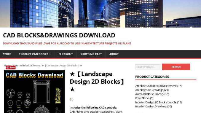 Landscape Design 2D Blocks】AutoCAD Blocks | AutoCAD Symbols