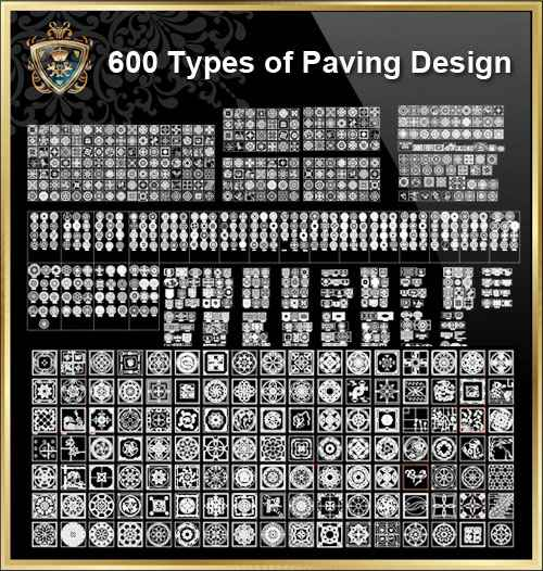 Over 600+ Types of Paving Design CAD Blocks - Free Download Architectural  Cad Drawings
