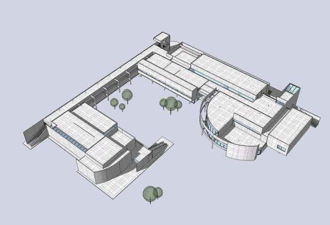 Download 14 Projects of Richard Meier Architecture Sketchup 3D Models(* skp  file format)
