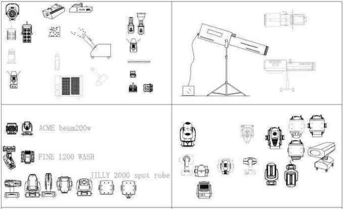★【Auditorium ,Cinema, Theaters CAD Blocks-Stage Equipment CAD Blocks  V 2】@Cinema Design,Autocad Blocks,Cinema Details,Cinema Section,Cinema  elevation