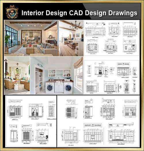 ★【Interior Design CAD Design,Details,Elevation Collection】Residential  Building,Living room,Bedroom,Restroom,Decoration@Autocad  Blocks,Drawings,CAD ...