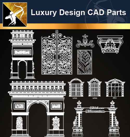 ★【Architecture Decoration Design Element CAD Blocks V 4】@Autocad Decoration  Blocks,Drawings,CAD Details,Elevation