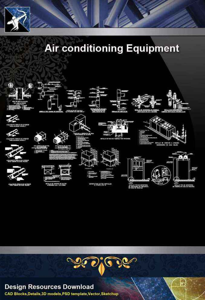 【Architecture CAD Details Collections】Air Conditioning Equipment CAD Detail