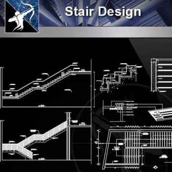【Architecture CAD Details Collections】Stair Design Drawing, CAD Details