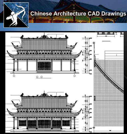 ★【Chinese Architecture CAD Drawings】@Chinese Grand Hall Drawings,CAD Details,Elevation