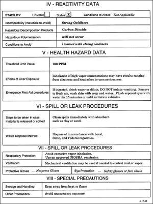 CeramaTech Material Safety Data Sheet