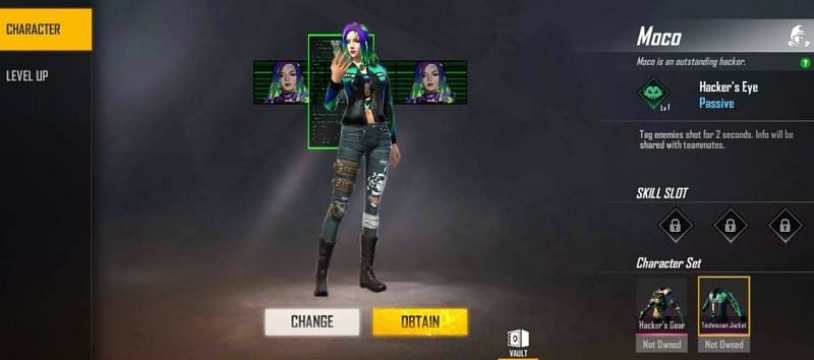 free fire moco character