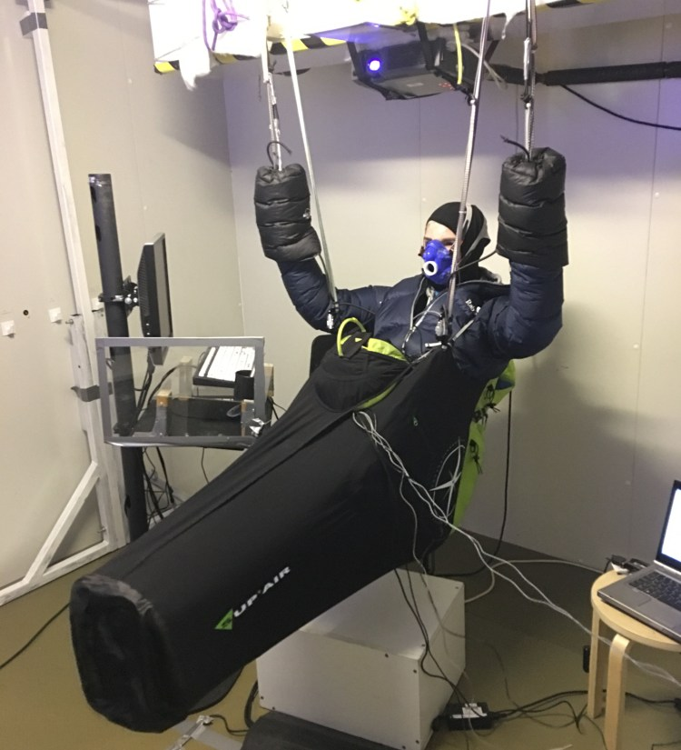 Jack Pimblett in Paragliding Physiology Simulator