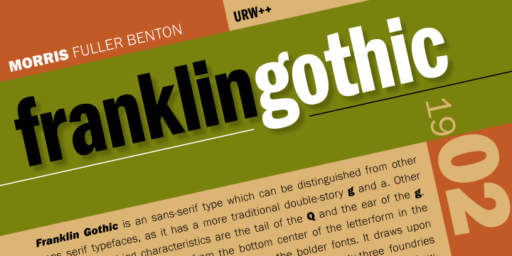 Franklin Gothic Font Free Download - Free Fonts