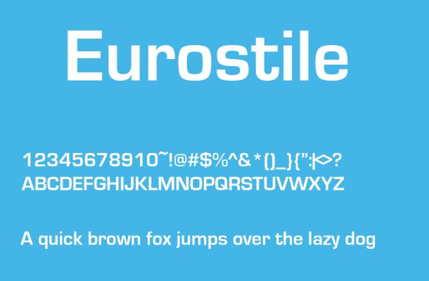 Eurostile Font Free Download