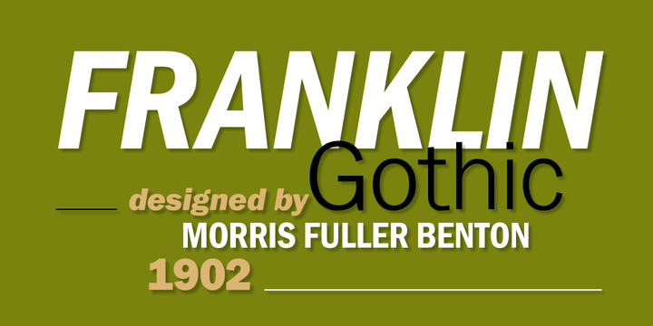 franklink gothic