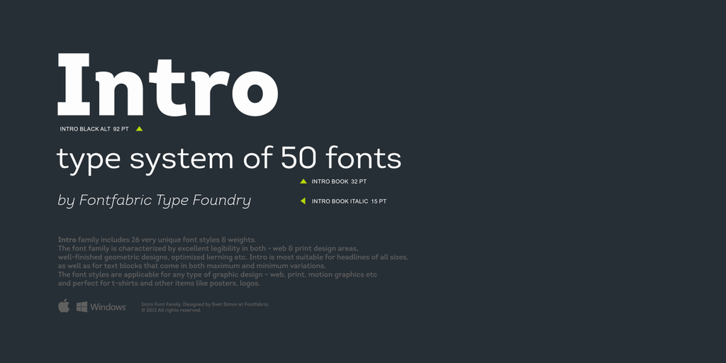 Intro Font Free Download - Free Fonts