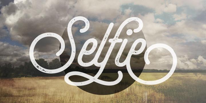 selfie font