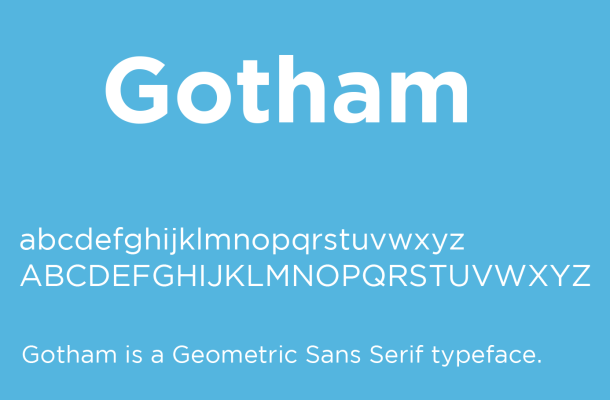 Gotham Font Free Download