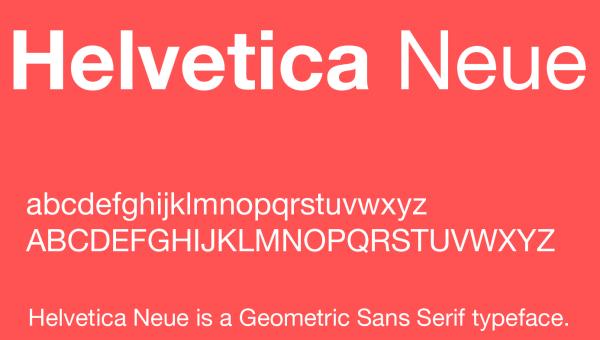 Helvetica Neue Font Free Download