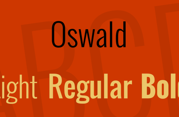 Oswald Font Family Free