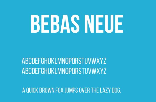 bebasneue font free download