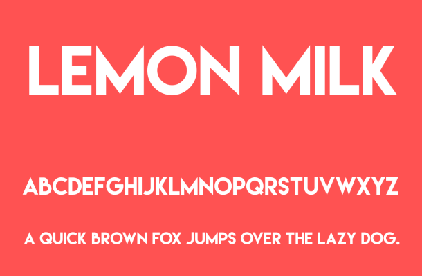 Lemon Milk Font Free Download