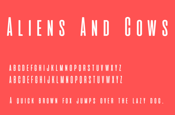 Aliens And Cows Font Free Download
